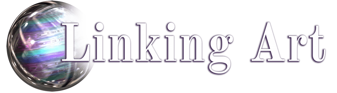 LinkingArt logo ležeč